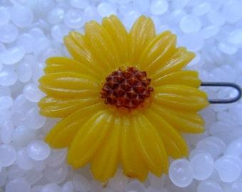 vintage sunflower barrette