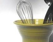 Lime green utensil holder