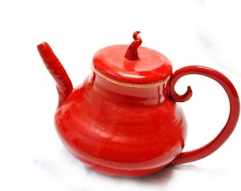 Wompy Red Teapot price reduced