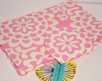 Mini iPad Cover  Kindle Paperwhite Cover  Nook Color Cover eReader Cover - Pink Wallflower Candy Dot eReader Cover