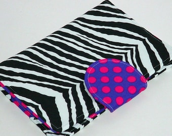 Kindle Cover - Kindle Fire HD cover  - Zebra Dot eReader Cover - available all size eReaders