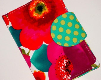 Kindle Cover, Kobo Cover,  Nook Case, all sizes Asian Poppies custom eReader Cover
