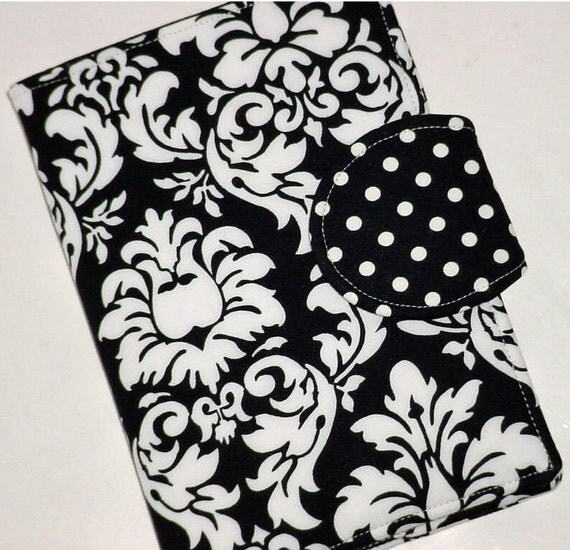 Kindle Cover, Nook Cover, Kobo Cover - Black/white Damask eReader Cover