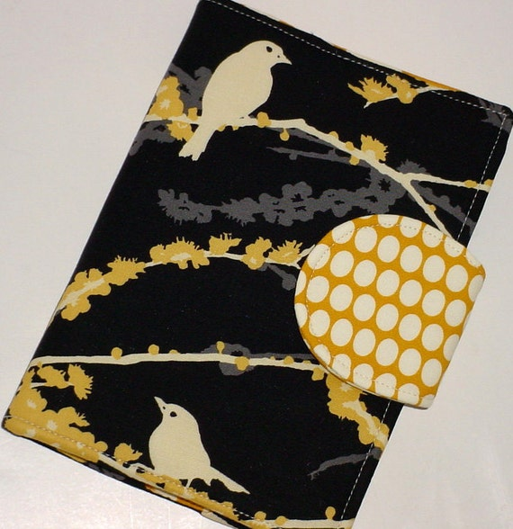 Kindle Cover, Nook Cover, Kobo Cover  - Dewberry Bird eReader Cover  - Wallflower interior