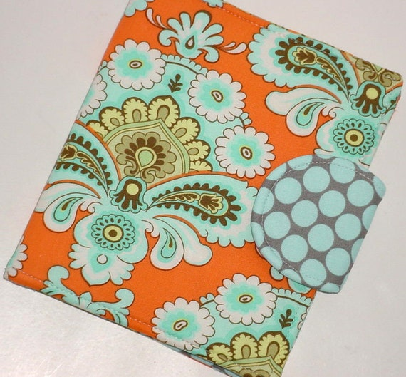 Kindle Cover, Nook Cover, Kobo Cover  - Tangerine French Wallpaper eReader Cover