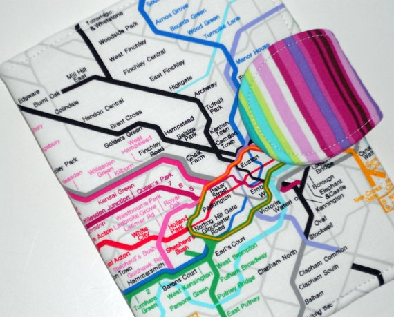 Kindle Fire HD Cover  Kindle Touch Cover  Nook Tablet Cover  - Map of London eReader Cover