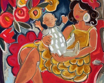 Mamasita 12x12 giclee reproduction