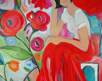 Bed of Roses- Giclee Reproduction