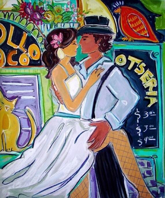 Street Tango 11x14 Giclee Reproduction