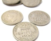10 King George VI Lucky English Sixpence Coins.  Pick Your Own Years from 1947 to 1951.