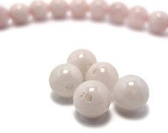 Rose Quartz Beads 5pcs.  8mm in Diameter.  Contact us if you would like other quantities.