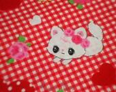 SALE - LECIEN Cats Heart Red - Half Yard (11o1030)