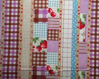 SALE -Fruit and Berry Violet- Half Yard  (ta1113)