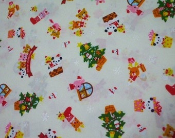 SALE - Christmas Friends Off-white - Half Yard (i0628)