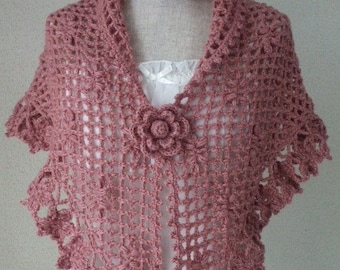 SALE Kawaii Pink Flower Stole Scarf and Corsage