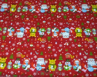 "SALE / Scrap - Christmas Border on Red - 110cm/43""W x 49cm/19""L (i0627)"