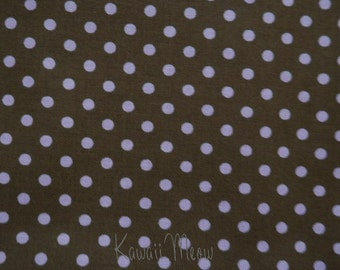 SALE - Polka Dots Brown x Pink Dots - Half Yard (12ko0114)