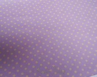 SALE - Polka Dots Lavender x Beige Dots - Fat Quarter (12ko0114)