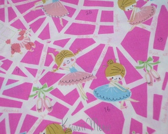 SALE - KOKKA Cute Ballerina Pink - Fat Quarter (11co1006)