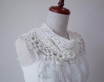Organic Cotton Stole Scarf White