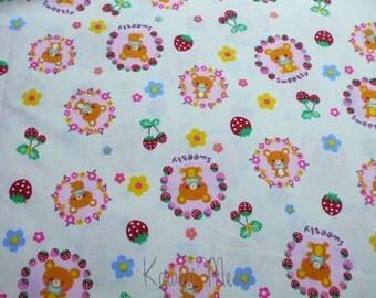 SALE - Sweetly Bear on Ivory - Half Yard (ma1214)