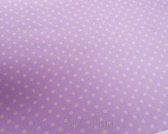 SALE - Polka Dots Lavender x Beige Dots - Half Yard (12ko0114)