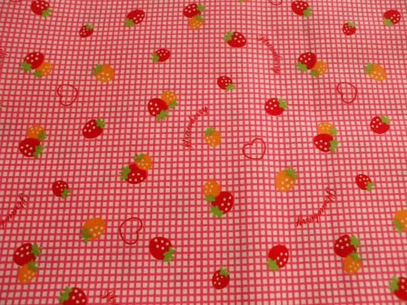 SALE - Cute Strawberry Pink Checks - Fat Quarter(ta1219)
