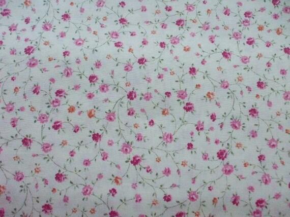 Kawaii Japanese Fabric - Cute Floret on Cherry Pink - Half Yard (ko0805)