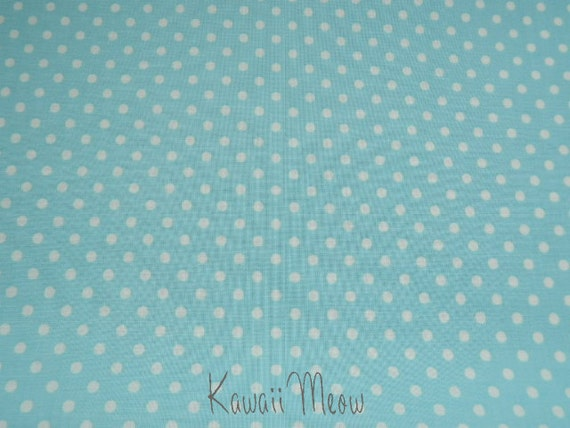 SALE - Polka Dots Blue x White Dots - Fat Quarter (12ko0114)