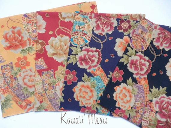 Japanese Fabric - 4 Fat Quarter Bundle Set - F56