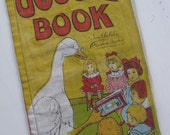RARE Antique Muslin Floursack Mother Goose Book EXCELLENT Condition Circa 1907