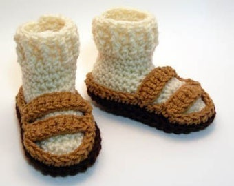 Hippie Sandals Crochet Baby Booties 0-6 Months