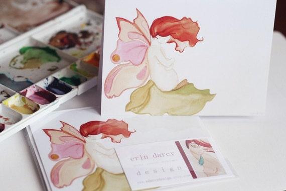 blooming fairy mama - greeting card