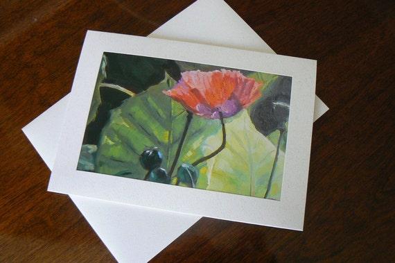 "Blank Art Note Card, 5x7, ""Princess Diana's Garden"""