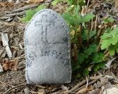 Mini tombstone, personalized plush key chain