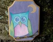 Twilight Owl, original painting