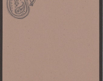 Paisley Note Cards - Set of FOUR