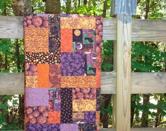 Fall Pumpkin Lap Quilt Quiltsy Handmade