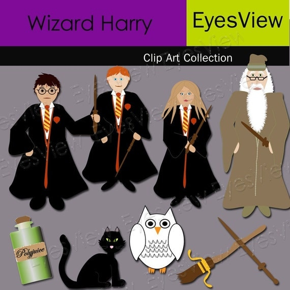 Items similar to Clip art ,Wizard Harry , INSTANT DOWNLOAD ...