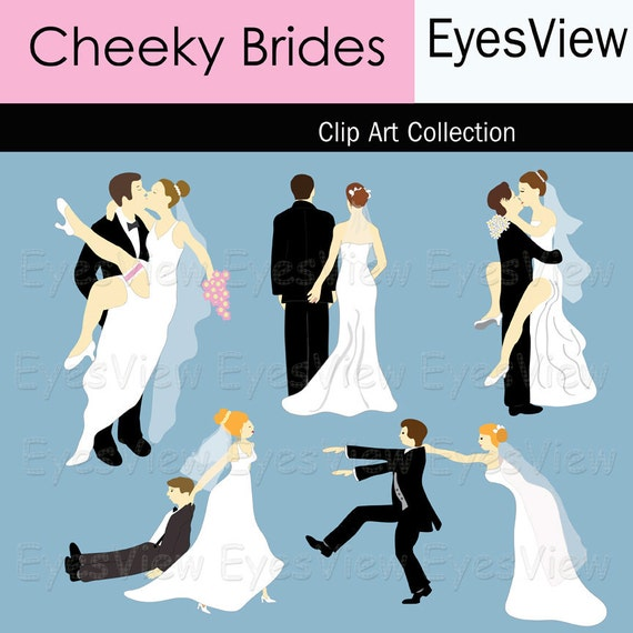 Clipart Cheeky Brides. Clip art INSTANT by InkAndWhimsy2 ...