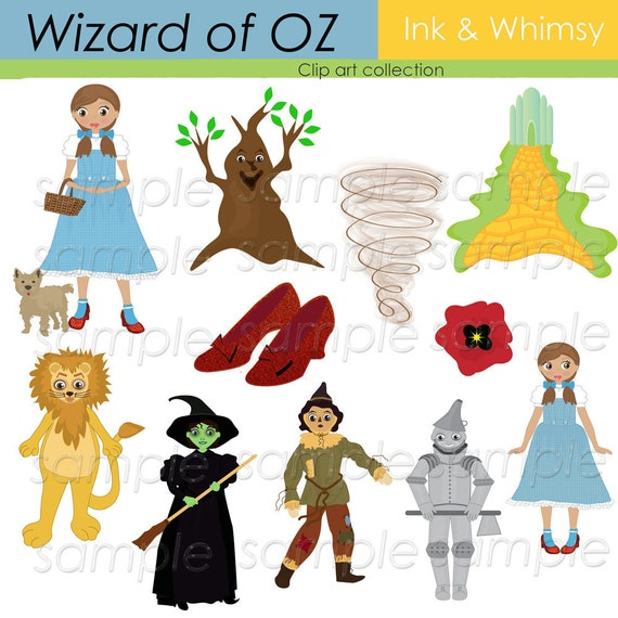 Items similar to Clipart , Wizard of Oz, Digital, Clip art ...