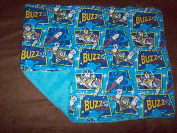 Toy Story Buzz Lightyear Toddler Clutch Security Blanket - oh so soft flannel fleece