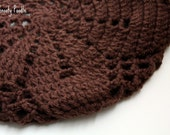 Crochet Slouchy Hat inChocolate Brown