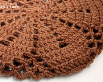 Crochet Slouchy Hat in Toffee Brown