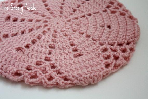 Crochet Slouchy Hat in Pink