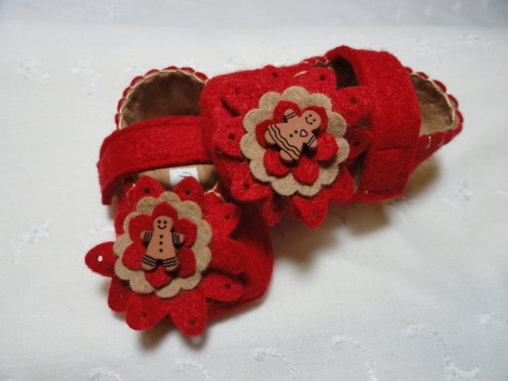 SALE, Baby Girl Shoes, Gingerbread Ladies, MaryJane's, Size 2