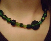 Chunky Simple Green Necklace or Bracelet