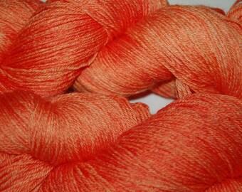 Studio June Yarn, Bamboo La La - Superwash Merino, Bamboo     Colorway:  Happy Tangerine