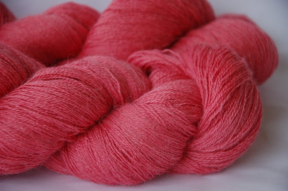 Studio June Yarn Cash Paca Lace - Coral Rose