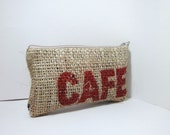 Recycled Burlap Small  Pouch - Cafe Luma